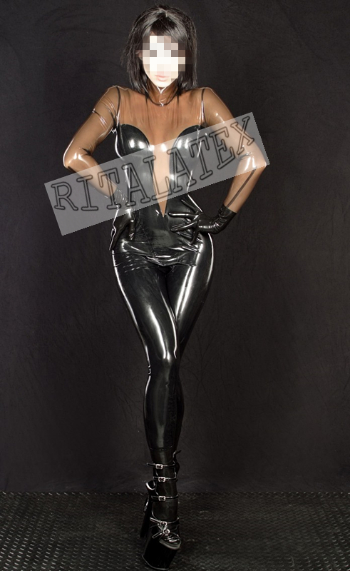 New Arrival Latex Zentai Catsuit Wet Look Latex Rubber -4743