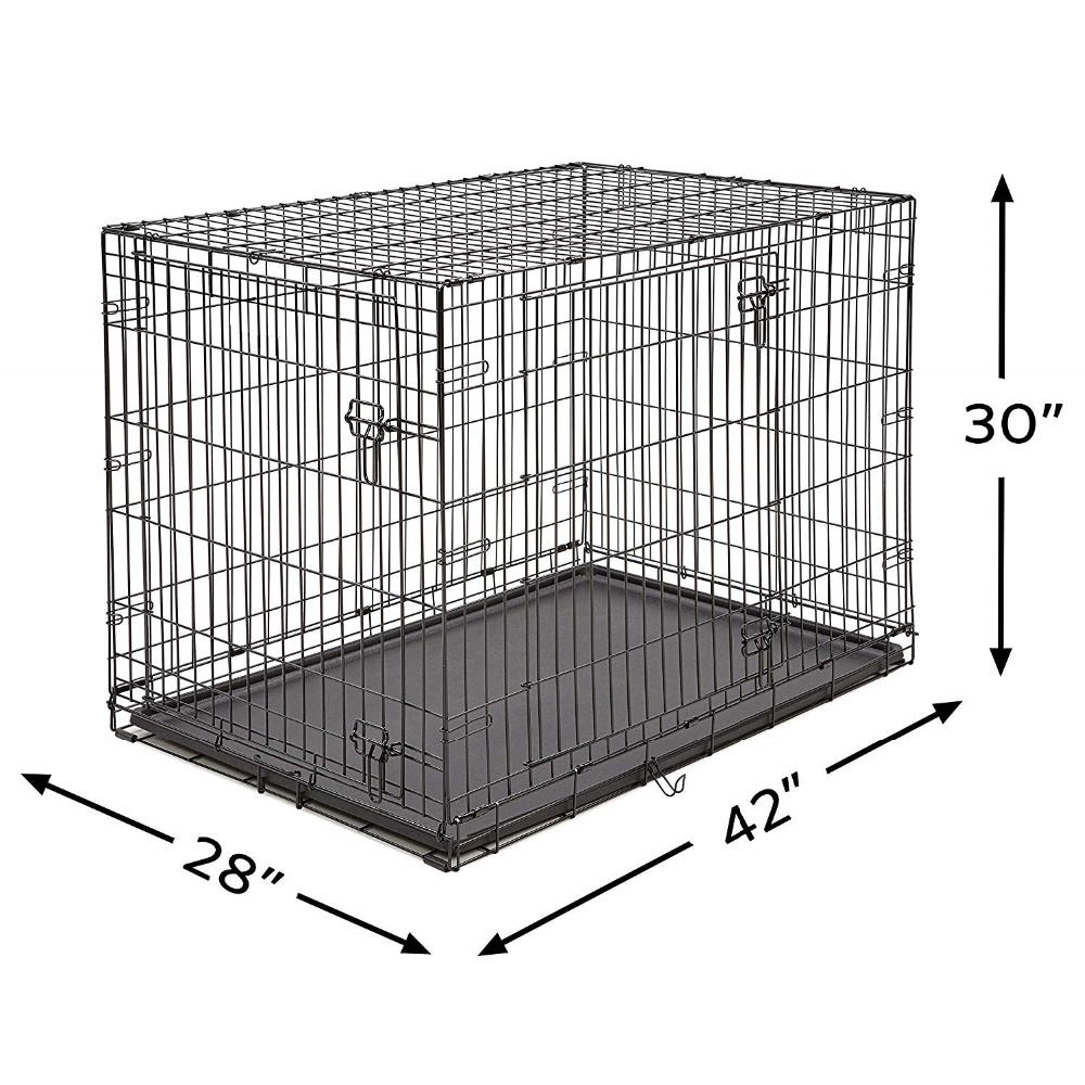 Homes for Pets Dog Single Door & Double Door Folding Metal Dog Crates