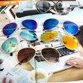 Colores de LA MEZCLA Envío Gratis 2014 Venta Diseñador Azul Reflejado Gafas de Sol de Los Hombres de Plata Del Espejo de La Vendimia gafas de Sol Gafas Mujeres Hot