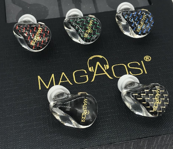 New Magaosi X3 3 Balanced Armature carbon fibre In-ear Earphone HIFI Monitoring With Replaceable MMCX Cable Free Shipping