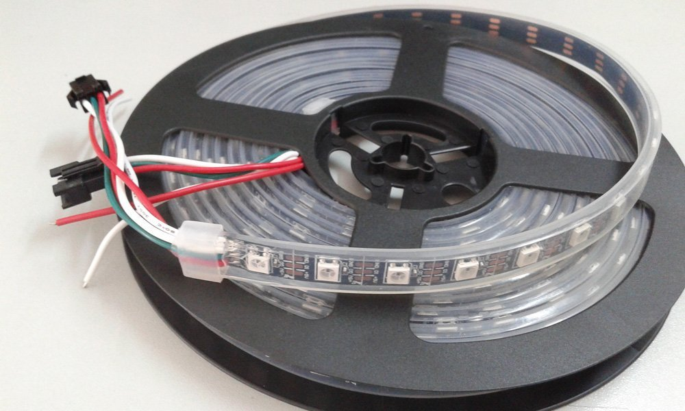 Waterproof IP67 5050SMD 4M 240 LEDs Neon tape Light DC 5V WS2812 LED Pixel Strip Light Holiday Supply Fita Led Free Shipping
