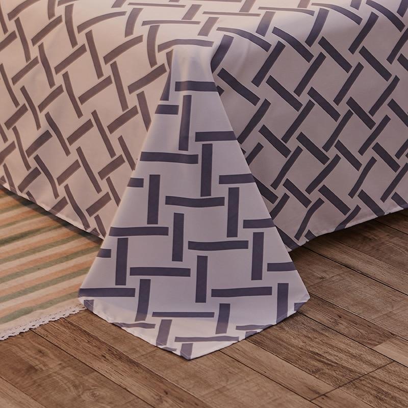 Simple style man's room decoration Bedding Set 3/4pcs Pillowcase Duvet Cover Set Bed Sheet Single/Double 1