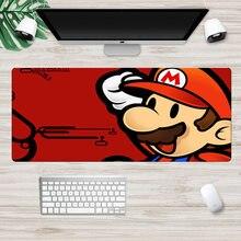 Большой коврик для мыши с изображением Марио 70x30 см из натурального