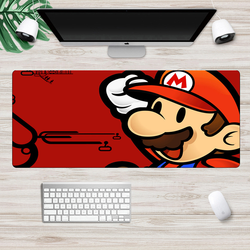 Computer Large 70x30cm Mario Mouse Pad  Lockedge Gaming Mouse Pad Computer Gamer Keyboard Mouse Mat Desk Mousepad For PC