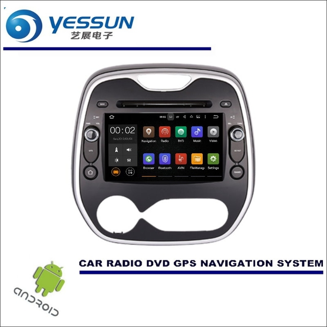 YESSUN Car Multimedia Navigation For Renault Captur Kaptur / Samsung QM3 / CD DVD GPS Player Navi Radio Stereo  Wince / Android