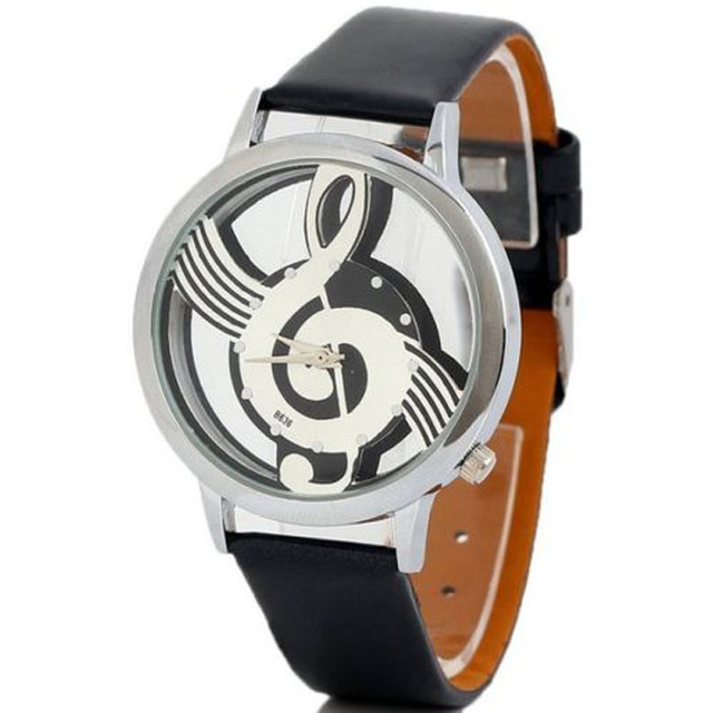 Xiniu Men Watches Original Fashion Leather Music Symbol Pattern Quartz dress Wat