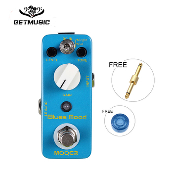 Mooer Blues Mood Blues Drive Guitar Effect Pedal Wide Range Frequency Response Blues Style Overdrive Sound With free connector фото