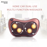 Moledodo Multifunction Massager Neck Back Waist Leg Body Massage Cushion Infrared Heating Shiatsu Spa Home Car