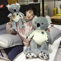 Giant plush Koala toys Grey Stuffed Very Cute plush Koala Animal toys for Children Christmas gift for Children