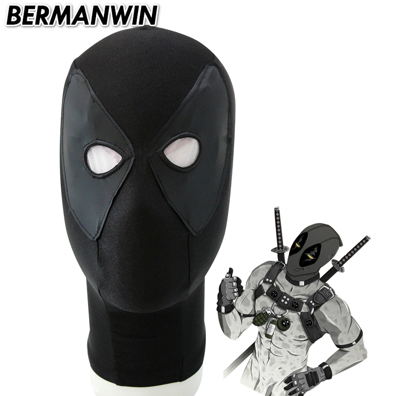 BERMANWIN High Quality Deadpool Mask Black Deadpool Mask Hood