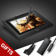 Cheapest Parblo Coast10 10.1″ Graphic Drawing Digital Tablet Monitor 2048 Level with Battery-free Pen+ Glove+ 4 ports USB3.0 Hub