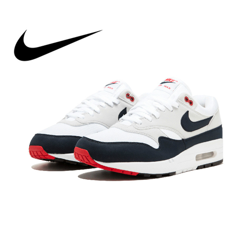 Original New Arrival Authentic Nike AIR MAX 1 ANNIVERSARY Mens Running Shoes Good Quality Sneakers Sport Outdoor 908375 104
