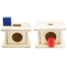 Montessori Sensory Toys Cube Cylinder Imbucare Box Shape Matching Educational Wooden Toys For Toddlers Juguetes E2464H