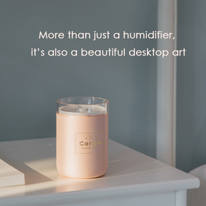 Image 5 - Hot Selling Creative Candle Humidifier 280ml Pure Type Warm Light Desktop Air Humidifier Purifier Home Office Car Mist Maker