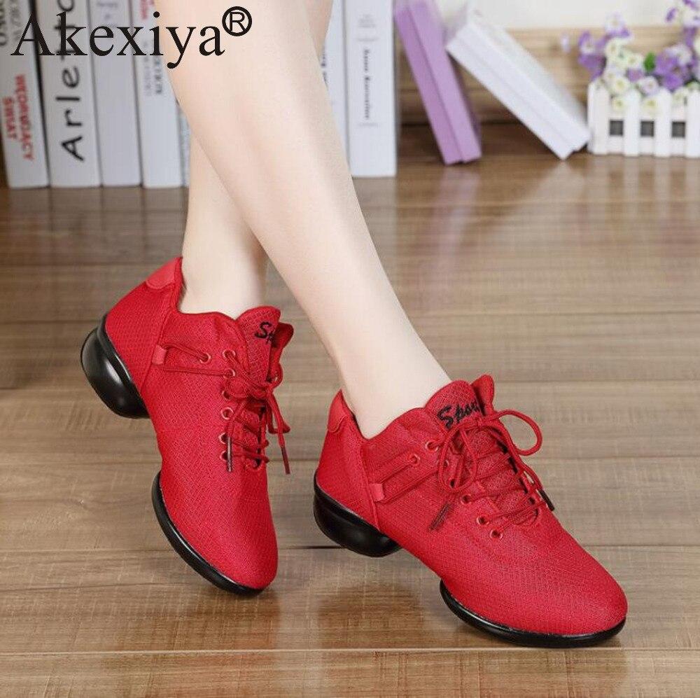 9f9af07c97a0 Akexiya-Merk-Mesh-Zwart-Rood-Wit-Dansschoenen-Sneakers -Vrouwen-Volwassenen-Ademend-Jazz-Latin-Ballroom-Schoenen-Voor.jpg