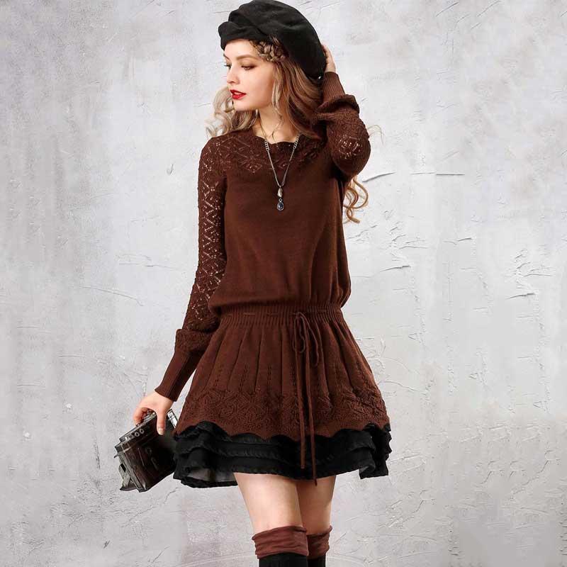 ARTKA Autumn 2018 Women s Sweater Elegant Long Sweater For Women Wool Pullover Vintage Jumper Plus