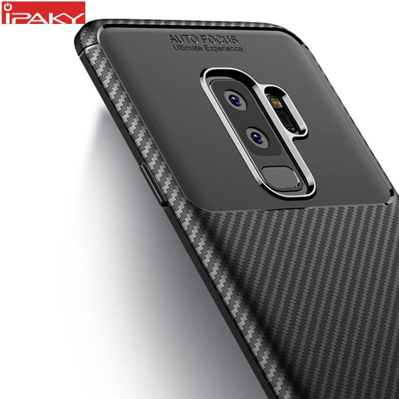 para Samsung S9 Funda IPAKY S9 Plus Funda de silicona TPU Fibra de - Accesorios y repuestos para celulares - foto 1