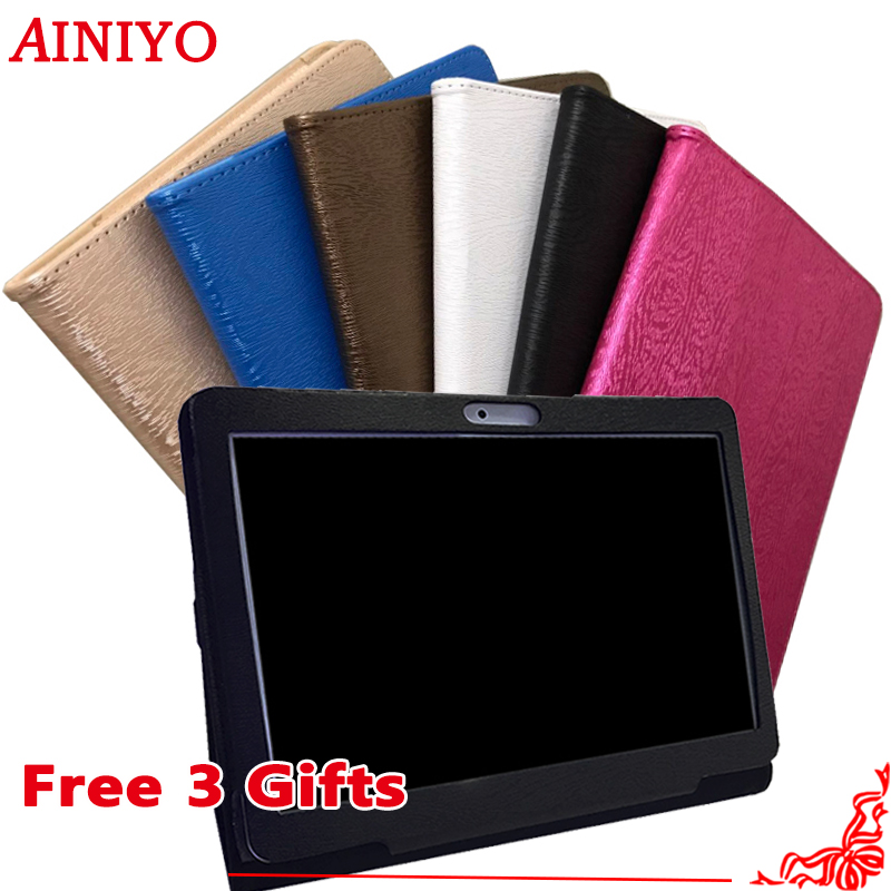 Fashion 2 fold Folio PU leather stand cover case for VOYO Q101 4G/i8 call phone 10.1inch tablet pc + Screen Film gift new 2 fold folio pu leather stand cover case for onda v10 3g 4g call phone 10 1inch tablet pc black and white color gift