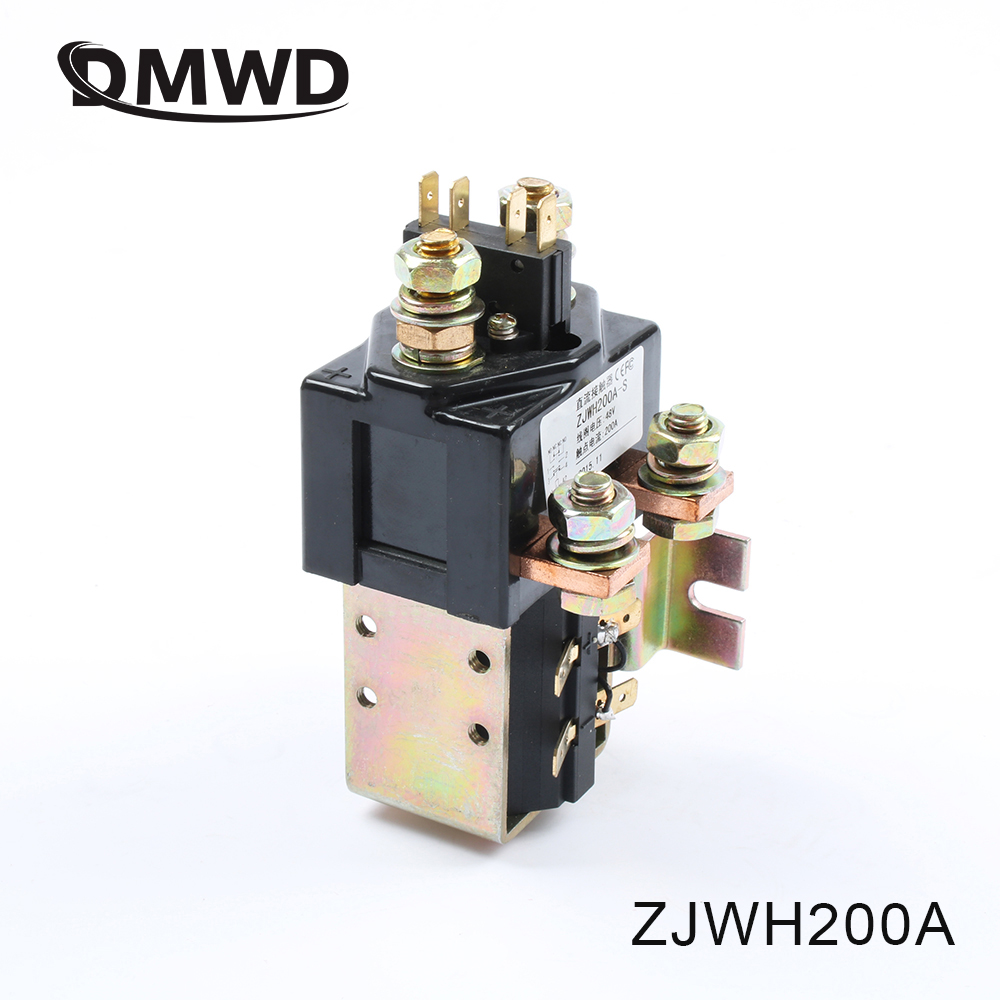 SW181 NO+NC 12V 24V 36V 48V 60V 72V 200A DC Contactor ZJWH200A for forklift handling drawing grab wehicle car winch PUMP MOTOR sayoon dc 12v contactor czwt150a contactor with switching phase small volume large load capacity long service life