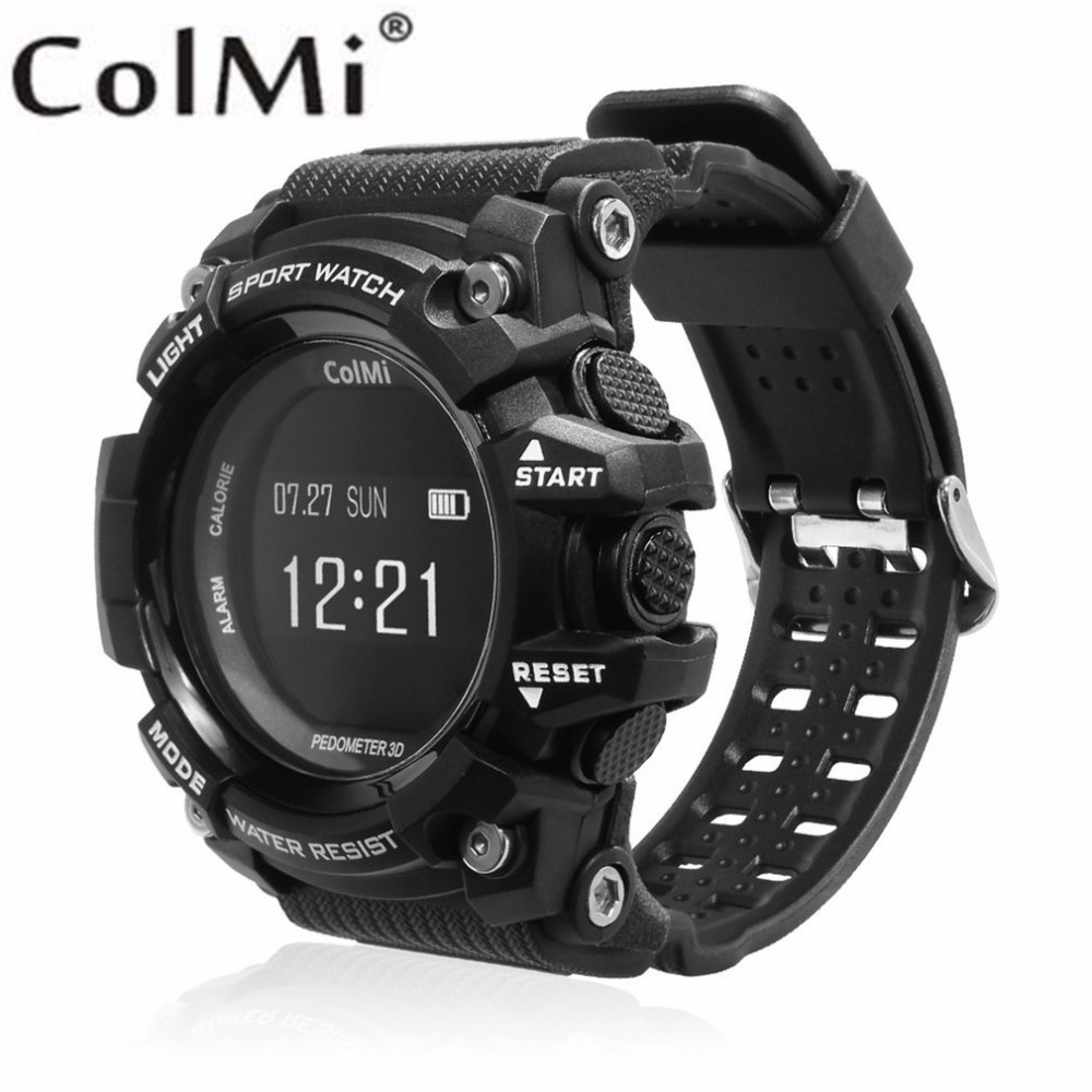 ColMi T1 Smart Watch Waterproof IP68 Heart Rate Monitor Bluetooth 4.0 Outdoor Sport Clock For IOS Android Phone Smartwatch lemdioe smart watch ip68 waterproof for men heart rate monitor multi sport mode bluetooth call smartwatch for android ios phone
