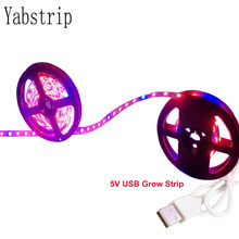 5V USB LED Grow Light Full Spectrum waterproof LED Strip Lights 5050 60LEDs Phyto Lamps For Greenhouse Hydroponic Plant Growing(China)