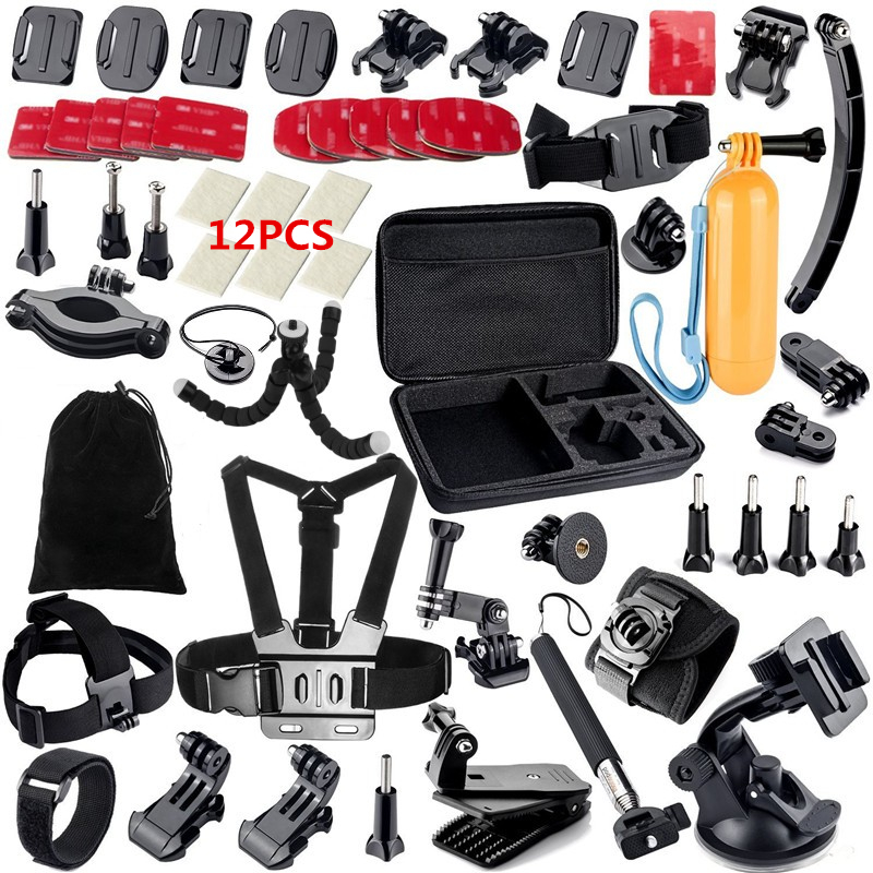 Helmet Chest Belt Strap tripod Monopod For Gopro Hero 4 3+ 2 gopro style xiaomi yi sjcam sj4000 GS13 Gopro Accessories Set