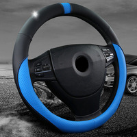 Car Styling 38 CM Steering Wheel Cover Case Cap Car Direction Set For BMW F10 E46