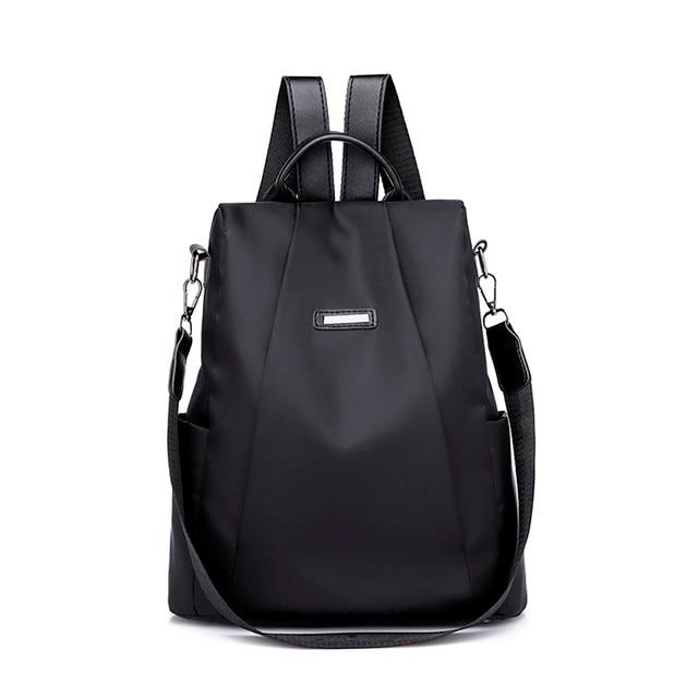 be9e441ea1 2019 Mode Femmes Solide ZipperTravel sac à dos Femelle Oxford voyage sac  anti-vol sac