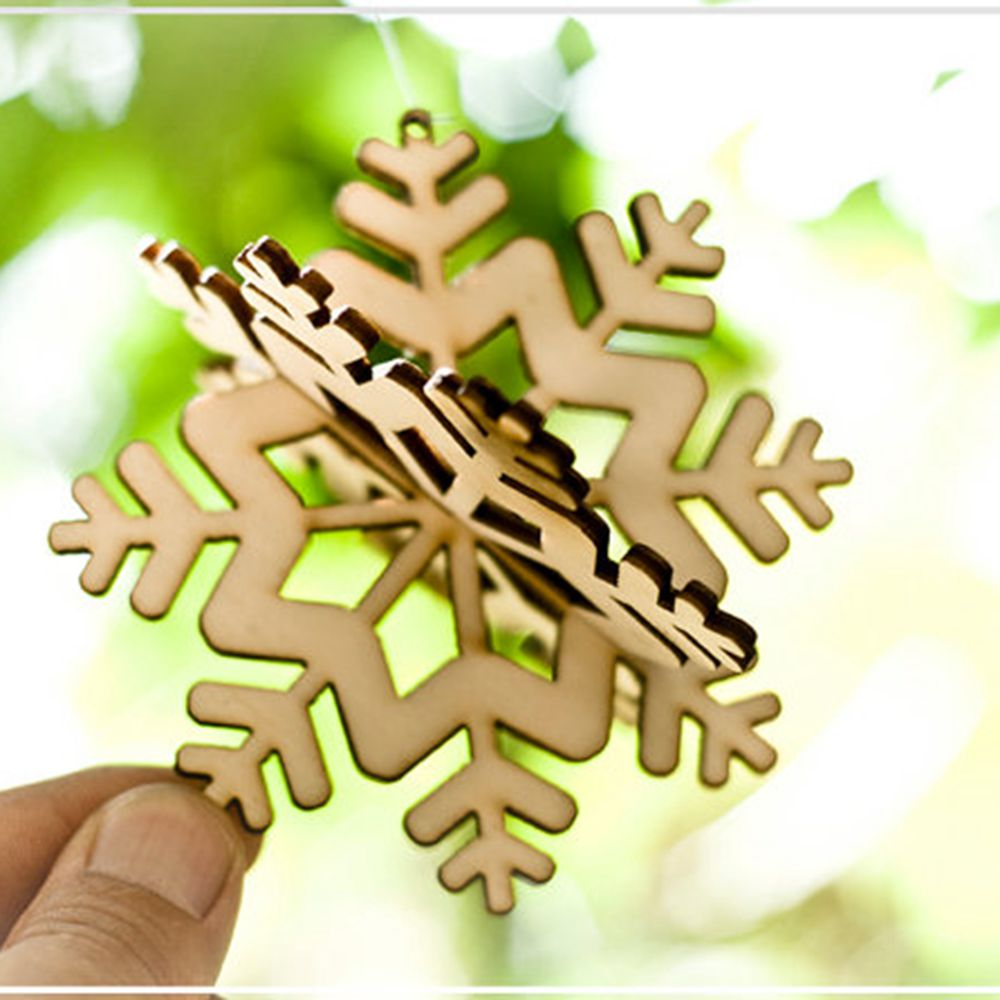 free shipping Wooden Snowflake Ornament For Christmas Tree ...