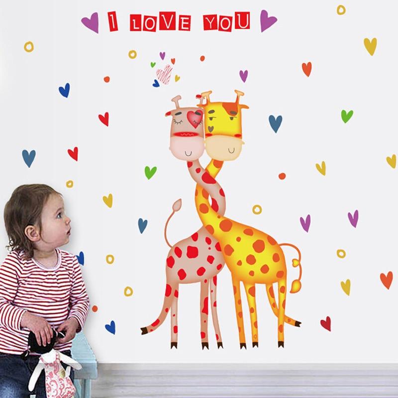 Jirafas Amor Wallpaper Diy Sala De Ninos De Kindergarten De Dibujos