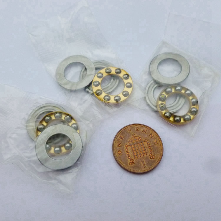 100pcs F4 9M Axial Ball Thrust Bearings 4x9x4 mm miniature Plane thrust ball bearing 4 9