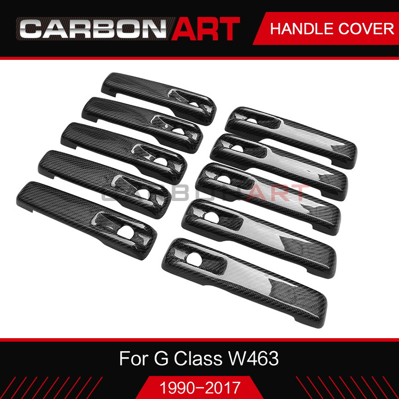 For Mercedes G Class W463 G55 G63 G500 G550 Car Accessories carbon fiber Door Handle Cover Trim Styling Decoration 5pcs