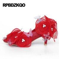 Strass Plattform Rote Plus Größe Hochzeit Kristall Weiß Ultra 11 43 Pumps High Heels Frauen Scarpin Niedrigen Brautschuhe blume