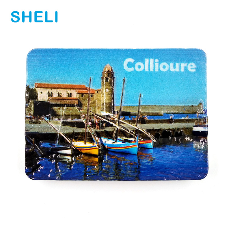 France Travel Souvenir Scenery Collioure 3D High-end Resin Fridge Magnets Gift Refrigerator Magnetic Sticker Home Decoration