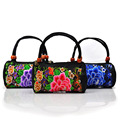 hand handbag embroidery totes package new flowers national style embroidery canvas portable small totes bag Factory direct