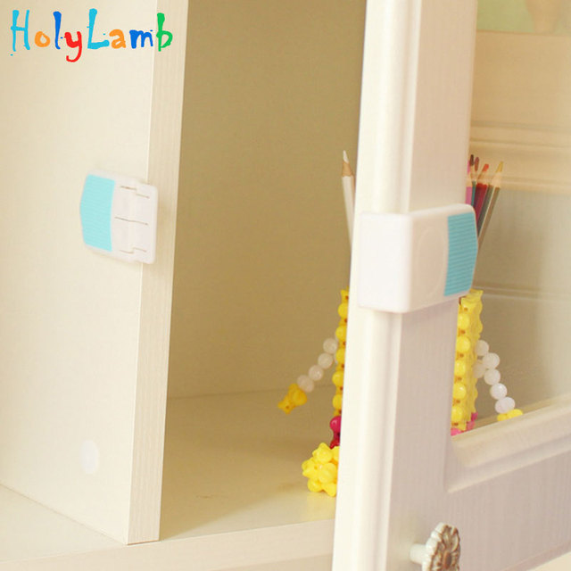 Double Snap Right Angle Drawer Lock Baby Safety Child Safety Cabinet Lock Drawer Lock Castle From Children Lock on The Cabinet