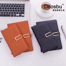 Dilosbu Leather Notebook Cover A5 Notepad Bullet Journal Planner Office Supplies Mini planner A6 Stationery Black Small Book joudoo cute panda notepad cartoon diary journal planner bullet mini notebook korean stationery office school supplies