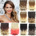 41 Color 24inch Curly Wavy Hair Extention Full Head 7pcs Set Clip in Hair Extensions Curly Ombre Hairpiece