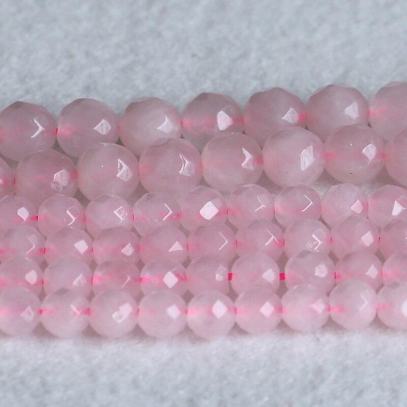 Naturale Rosa Cristallo Di Quarzo Rosa Sfaccettato Rotondo Sciolto Perline di Pietra 6-12mm 15 05198Naturale Rosa Cristallo Di Quarzo Rosa Sfaccettato Rotondo Sciolto Perline di Pietra 6-12mm 15 05198