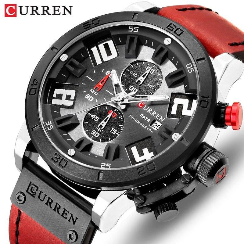 2019 CURREN Chronograph Men Watches Top Luxury Brand Fashion Quartz Wrist Watch Mens Outdoor Sports Army Clock Relogio Masculino