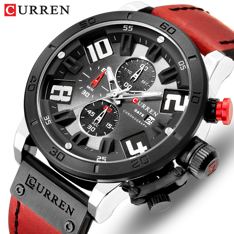 2019 curren chronograph men relógios topo de luxo marca moda quartzo relógio de pulso dos homens esportes ao ar livre do exército relógio relogio masculino