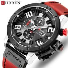 Мужские кварцевые наручные часы CURREN, спортивные армейские часы с хронографом, топ класса люкс, 2019