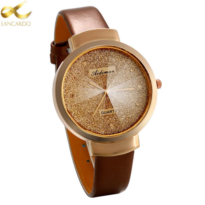 Lancardo New Fashion Ladies Watches Elegant Rhinestone Female Quartz Watch Women Thin Leather Strap Waterproof Montre Femme купить