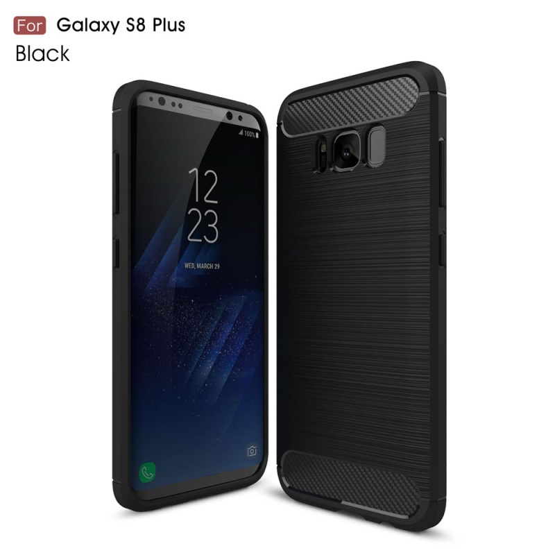 Para el caso de Samsung Galaxy S8 Plus TPU Casos Cepillado de Fibra de Carbono A