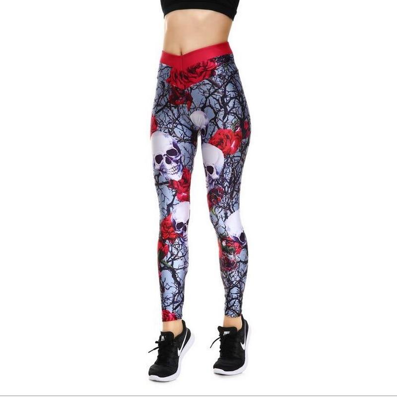 VXO Wholesale Leggings Fitness Women Leggings Halloween series rose high waist leggings ladies personality dance leggings leggings