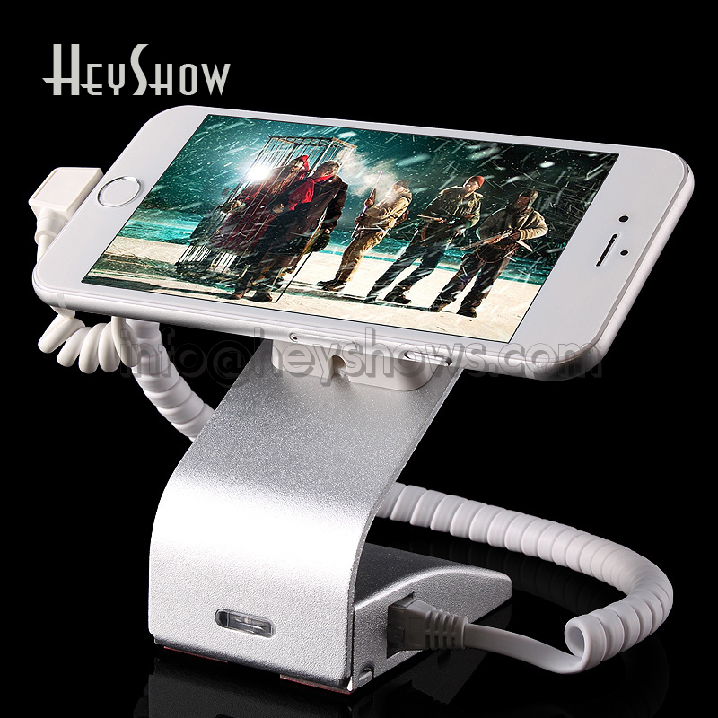10x Cell Phone Security Stand Iphone burglar Alarm System Mobile Phone Anti Theft Display Holder With Charging Alarm Function