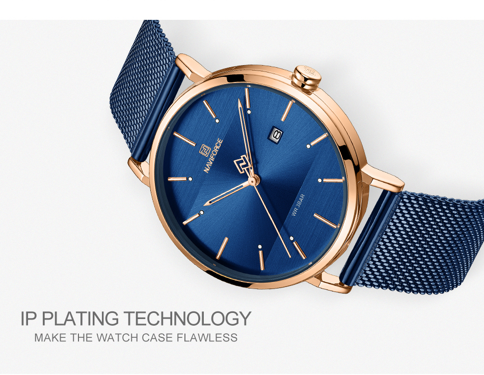 NAVIFORCE New Stylish Women Watches Top Brand Luxury Stainless Steel Strap Quartz Wristwatch For Woman Bracelet Watch 2019 Gift  (10)