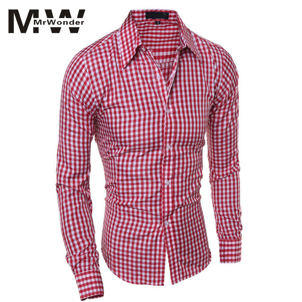 Men's Oktoberfest Red Shirts Men Stylish Long-Sleeve Plaid Shirt Elegant Blouse Tops For Beer Festival Green Blue SAN0