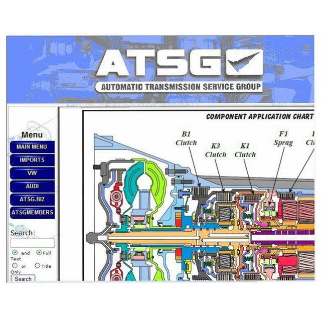 US 45 6 5 OFF Latest Version ATSG Software Automatic Transmission Repair Manual Automatic Transmissions Service Group Repair Information In