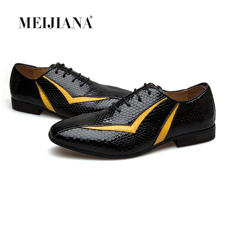MEIJIANA 2018 nouvelle chaussure en cuir véritable pour hommes chaussures Oxfords chaussures de Banquet de marque